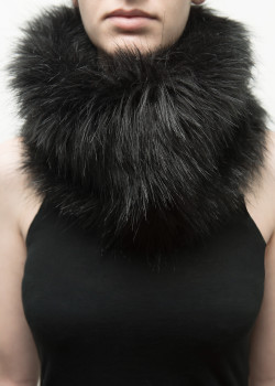 FAIIINT black faux fur fluffy snood
