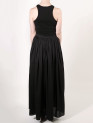 FAIIINT full gathered black cotton lawn maxi skirt