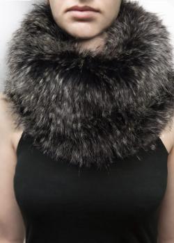 FAIIINT grey faux fur snood