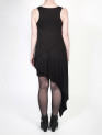 FAIIINT clothing Splice Dress black triple layered asymmetric draped gathered long short jersey dress