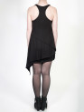 FAIIINT clothing Splice Tank black asymmetric double layered draped jersey top